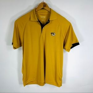 Mizzou Tigers Gold Performance Polo Sz Medium